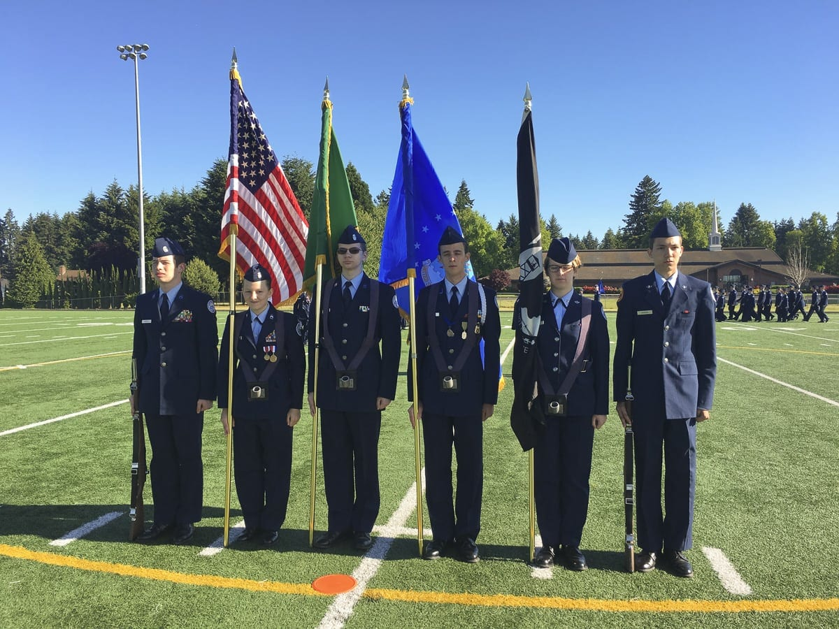 The AFJROTC program is a part of the Battle Ground School District's Career and Technical Education Department. Photo courtesy of Battle Ground Public Schools