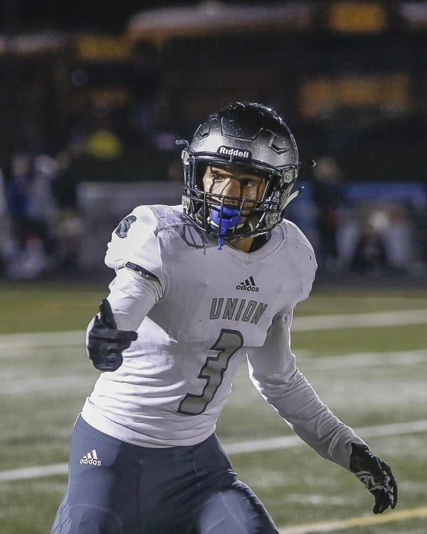 Darien Chase has one more season of high school football with the Union Titans before he heads off to play college football. Photo by Mike Schultz