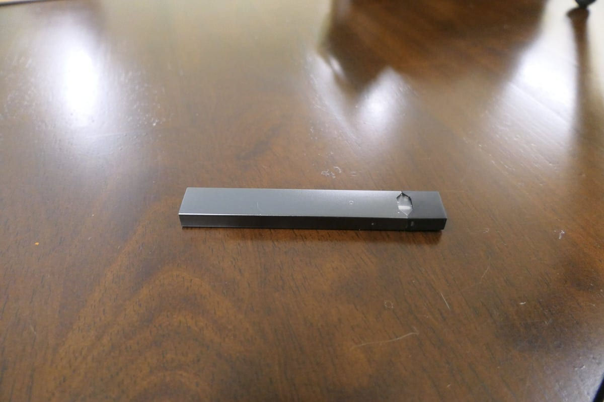 This vaping device known as the Juul is popular among children and teens due to its innocuous appearance and ability to be easily hidden. Photo by Chris Brown