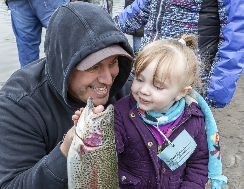 Jason and Mai'ana-Candaso-Vancouver pose with a recent catch during the Klineline Fishing Derby earlier this year. File photo taken by Mike Schultz