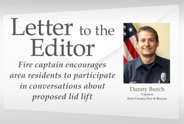 Fire captain encourages area residents to participate in conversations about proposed lid lift