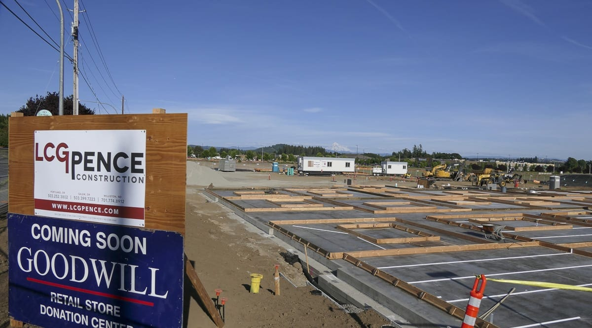 Construction is underway on a new Goodwill Retail location in Orchards. Photo by Chris Brown