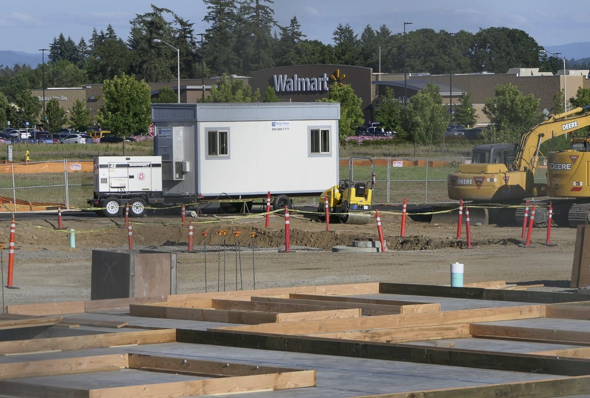 Wal-Mart is visible from the construction site of a new Goodwill Retail location on Fourth Plain at NE 140th Avenue. Photo by Chris Brown