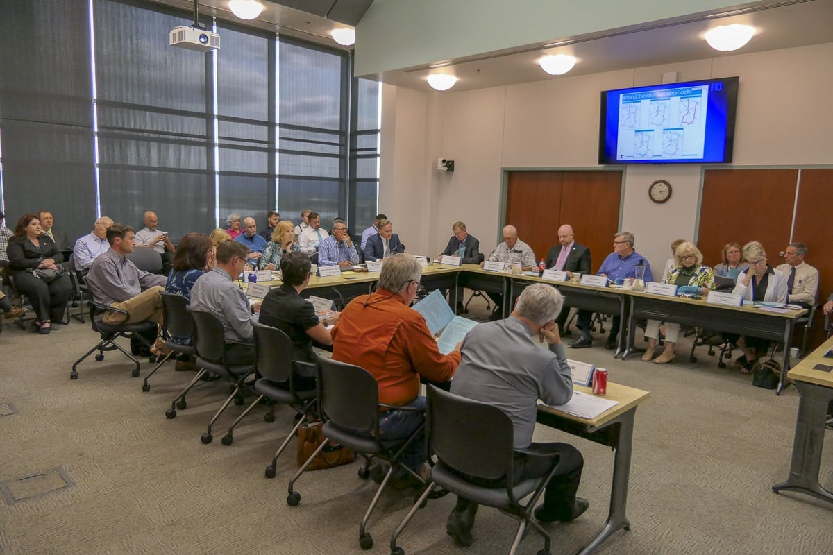 The Southwest Washington Regional Transportation Council meets to talk about input over Oregon's plans for tolls in Portland. Photo by Chris Brown