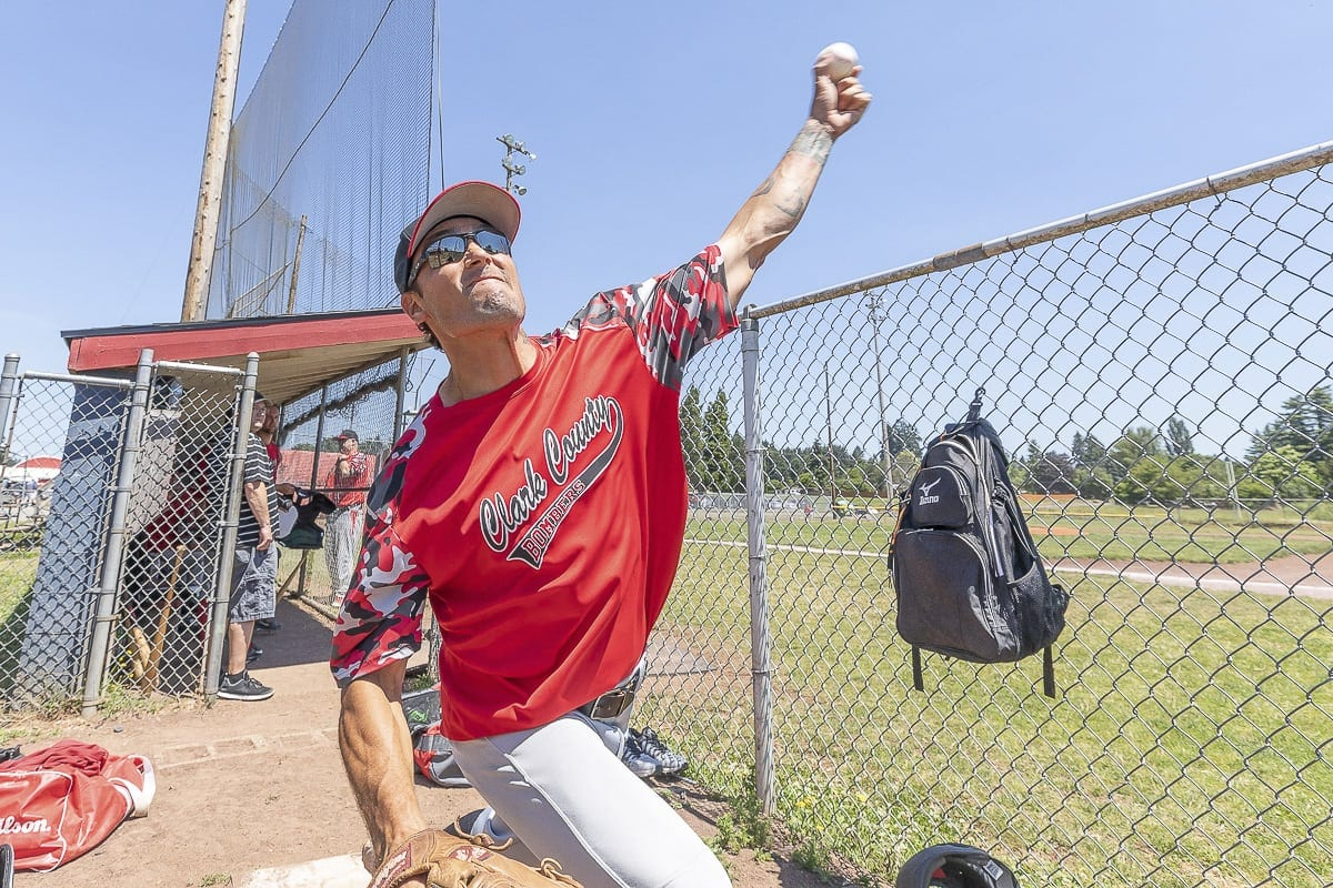 "Those who knew him in high school recall that Anthony ""Tony"" Davis had a gun for a pitching arm. He said he was clocked at 88 mph when he pitched while in the U.S. Navy. He broke his back and was paralyzed in 2005. He has since returned to baseball. Photo by Mike Schultz"