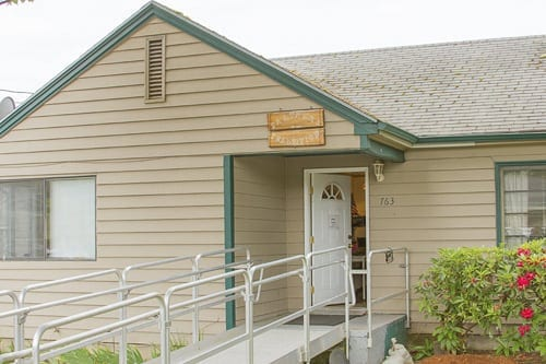 The Partners in Transition program operates out of a home located next door to the Woodland Public Schools District Office. Photo courtesy of Woodland Public Schools