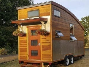 Patrick Sughrue of Artisan Tiny House has a personal history of energy conservation and renewable energy projects dating back to the 1970s. His work will be featured at this year's Recycled Arts Festival. Photo courtesy of Clark County WA Communications