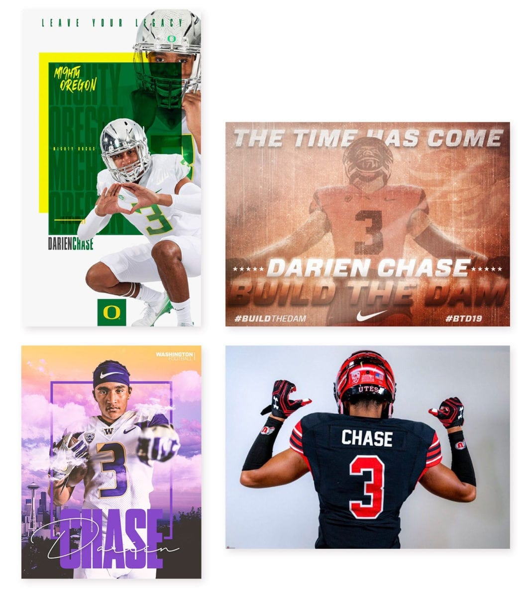Darien Chase of Union has posted pictures of him on Twitter in several uniforms. He told ClarkCountyToday.com that he is focused on the offers from Washington, Oregon, Oregon State, and Utah. He expects to make a decision in August. Photos courtesy of Darien Chase