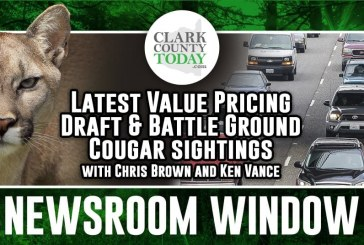 Newsroom Window: Latest Value Pricing Draft & Battle Ground Cougar sightings