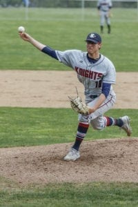 Damon Casetta-Stubbs finished the 2018 high school season with 97 strikeouts in 51.1 innings pitched with an ERA of 0.68. He ended his career at King's Way Christian with 20 consecutive scoreless innings. He was drafted by the Mariners on Wednesday. Photo by Mike Schultz