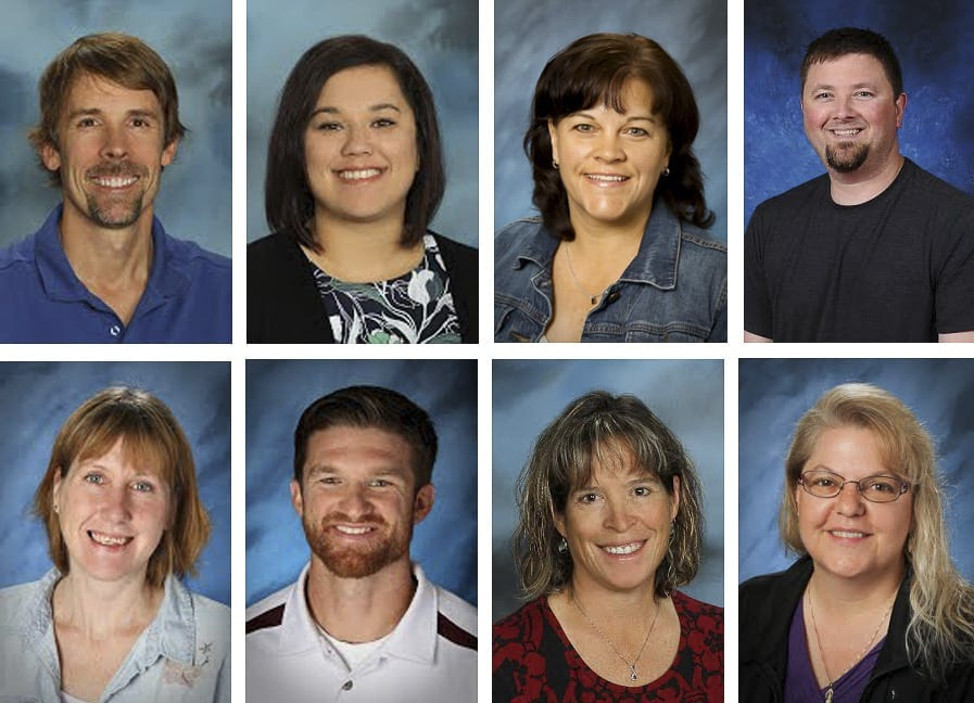 Show here (Top, left to right) are new Battle Ground School District administrators David Kennedy, Lynnell Murray, Kelly Gorby and Damen Hermens. Bottom, left to right: Kara Kent, Justin Pierce, Lori Schilling, and Julie Williamson. Photo courtesy of Battle Ground Public Schools