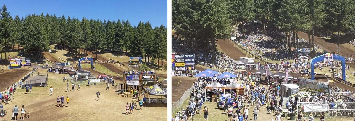 A handful of spectators, die-hards, always show up early for the Washougal National to watch amateurs ride and pros get in some practice time. On race day, thousands will be at Washougal MX Park. Photos by Paul Valencia