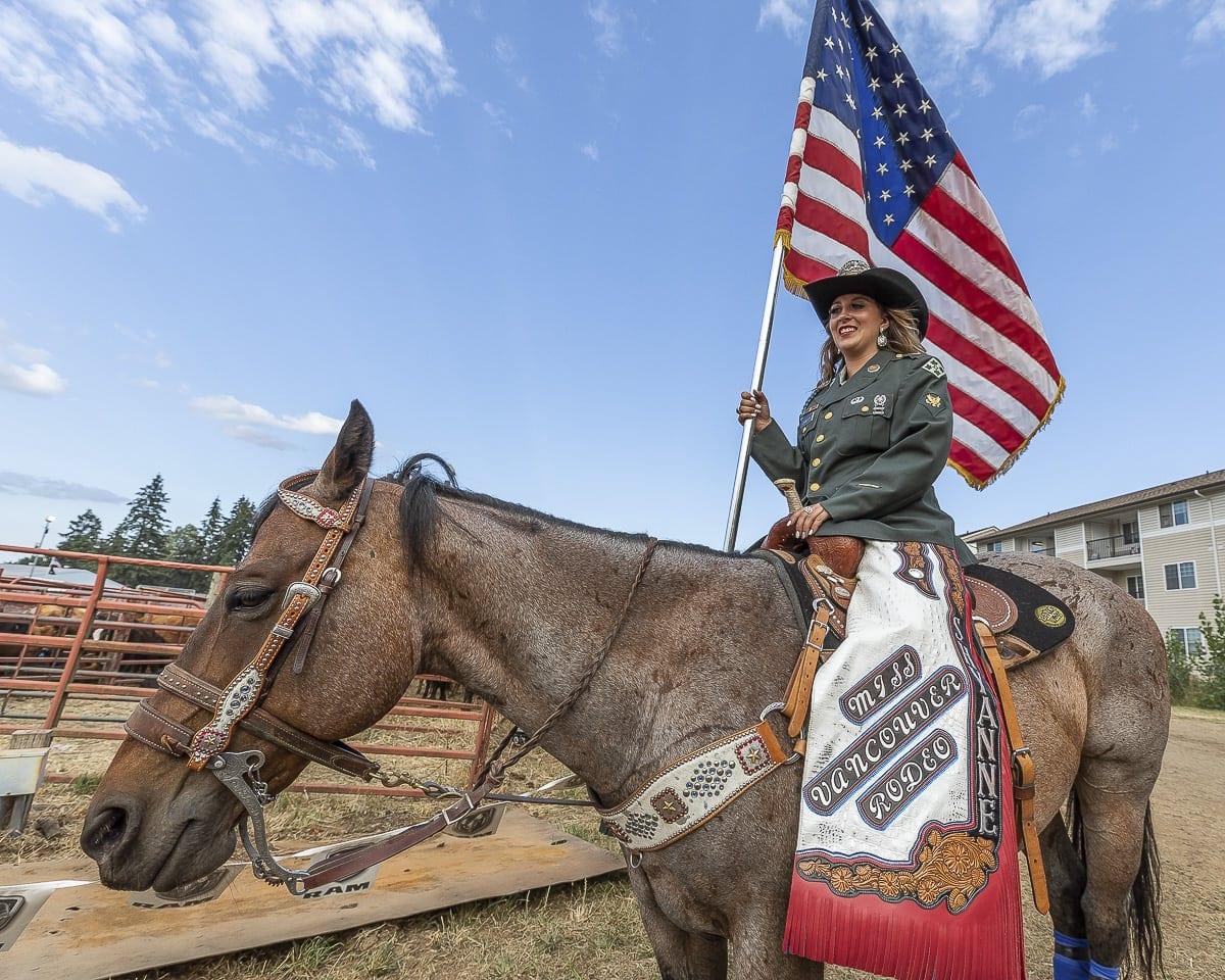 Miss Vancouver Rodeo Queen Shyanne Chandler said she wants the community to know that this is not the last Vancouver Rodeo. The event might have to take a break, but she believes it will return at a future date at a different location. Photo by Mike Schultz