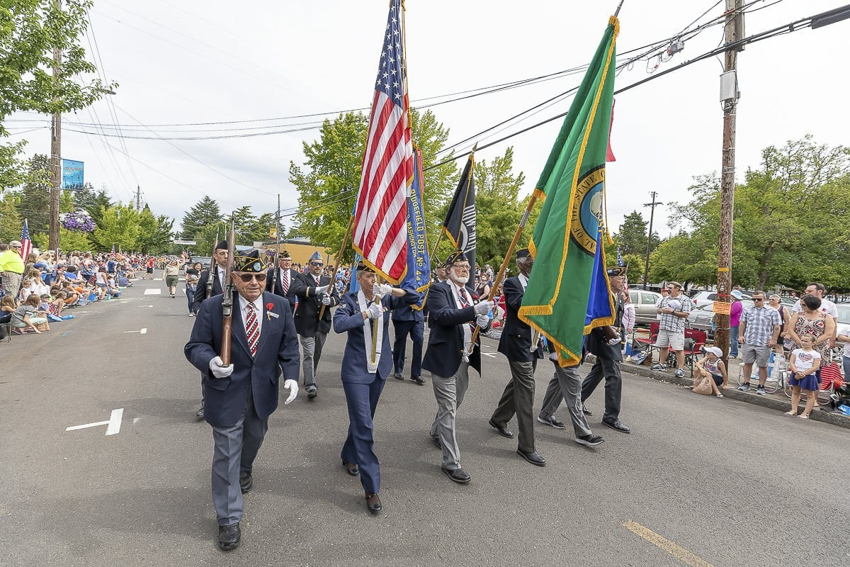 "The theme of this year's Fourth of July parade in Ridgefield was ""Over There, Over There,"" to commemorate the 100th anniversary of World War I and the creation of the American Legion. Photo by Mike Schultz"