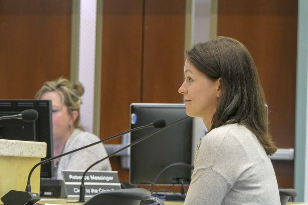 Monica Czalpa, Clark County's infectious disease program manager, gives an update on local TB and Measles cases. Photo by Chris Brown