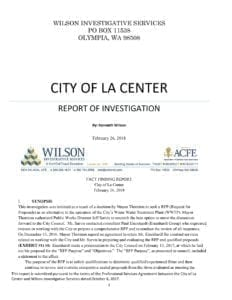 KENNETH WILSON REPORT