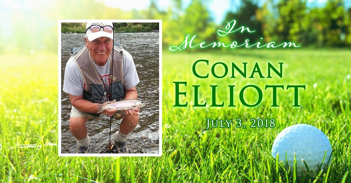 Vancouver resident and area golf pro Conan Elliott passed away Tue., July 3 at the age of 72.