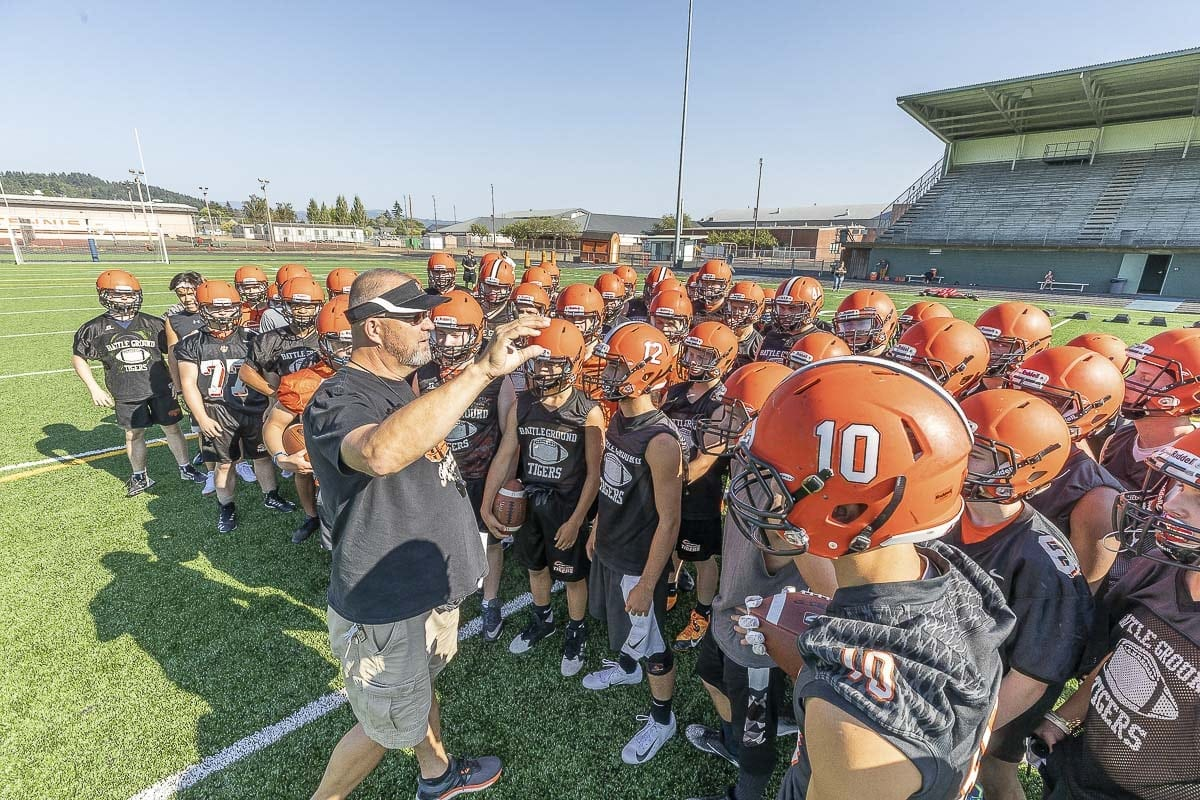 Battle Ground coach Mike Kesler enters his second season at the helm of the Tigers' football program. Photo by Mike Schultz