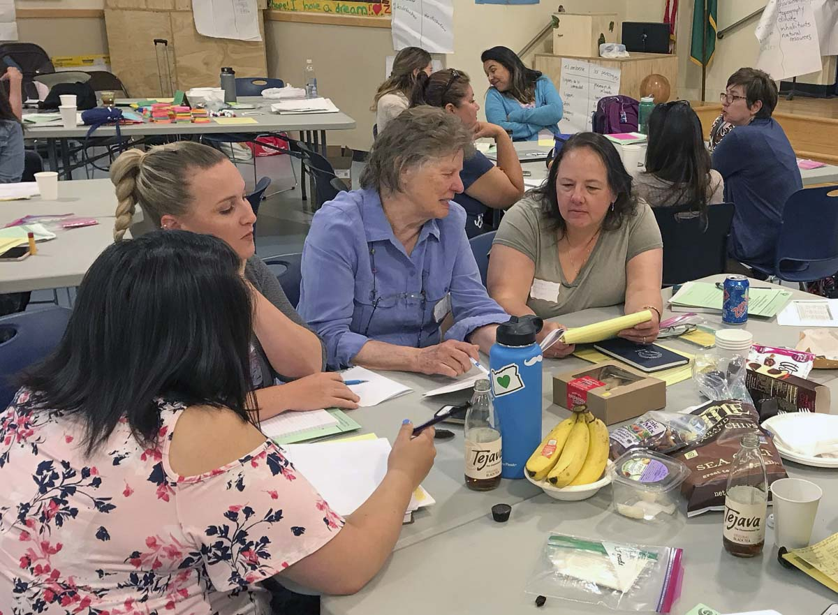 Woodland Primary School's Dual Language program team attended a Teaching in Dual Language Institute in Seattle this summer. Photo courtesy Woodland Public Schools