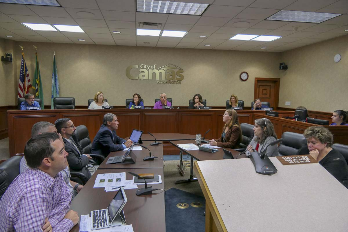 Members of the Camas City Council heard from city staff Monday regarding a new Urban Tree Program for the city. Photo by Chris Brown