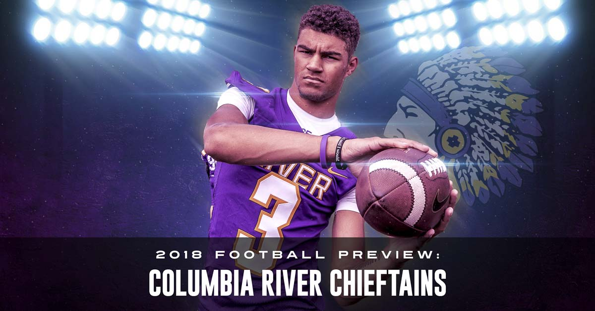 Kanen Eaton went from junior varsity player as a sophomore to a breakout star as a junior. Now, he is one of more than 30 seniors on the Columbia River team hoping make some noise in November. Photo by Mike Schultz. Edited by Andi Schwartz.