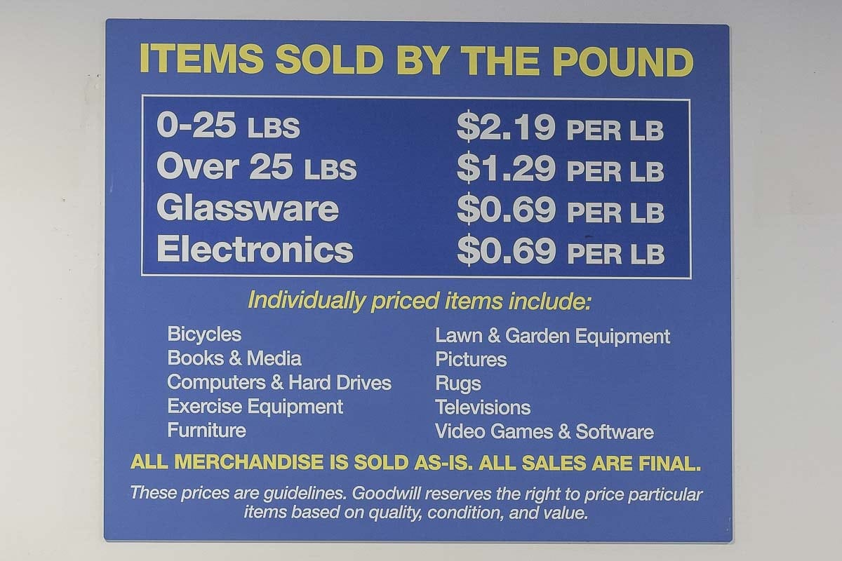 Items at the Goodwill Outlet Store in Vancouver come from other Goodwill retail locations and sell for pennies on the pound. Photo by Mike Schultz
