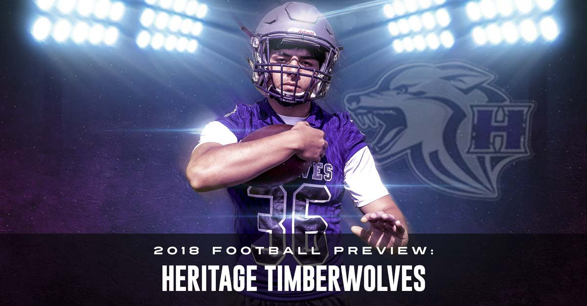 A year ago, Jonathan Salo was told his football career was over. Two surgeries and countless hours a rehabilitation later, he is preparing to play for the Heritage Timberwolves. Photo by Mike Schultz. Edited by Andi Schwartz.
