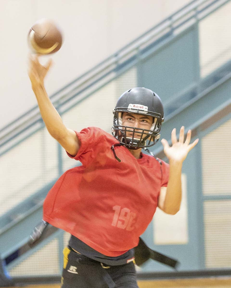 Senior Parker Marsh will guide the Hudson's Bay offense this season. Photo by Mike Schultz