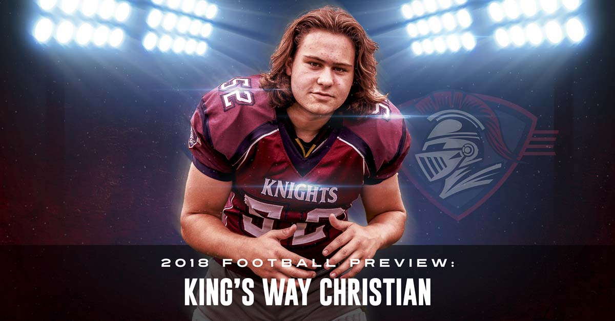 Dylan Scott was 5-6 as a freshman at King's Way Christian. Now, he is a 6-foot tall lineman and linebacker. He also hopes King's Way Christian football continues to grow. Photo by Mike Schultz. Edited by Andi Schwartz.