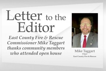 Letter: East County Fire & Rescue Commissioner Mike Taggart thanks community members who attended open house