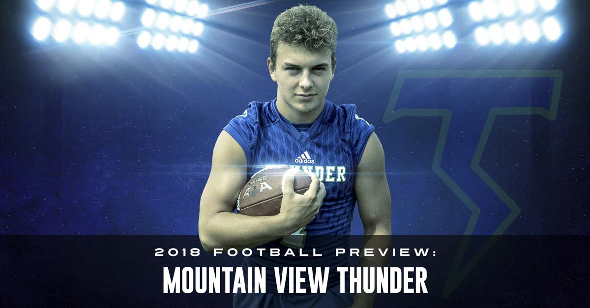 Jack Mertens was pushed to go out for football as a sophomore, picked up the game in a hurry, and became a starter by Week 2. Now a senior, he is hoping to help Mountain View win a third consecutive 3A GSHL title. Photo by Mike Schultz. Edited by Andi Schwartz.