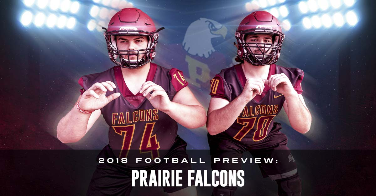 Tim Banaszek and Max Velarde believe the offensive line is the heart of any football team. If that is true, the Falcons have a lot of heart, with Banaszek and Velarde being true team leaders through the offseason, helping Prairie prepare for 2018. Photo by Mike Schultz. Edited by Andi Schwartz.