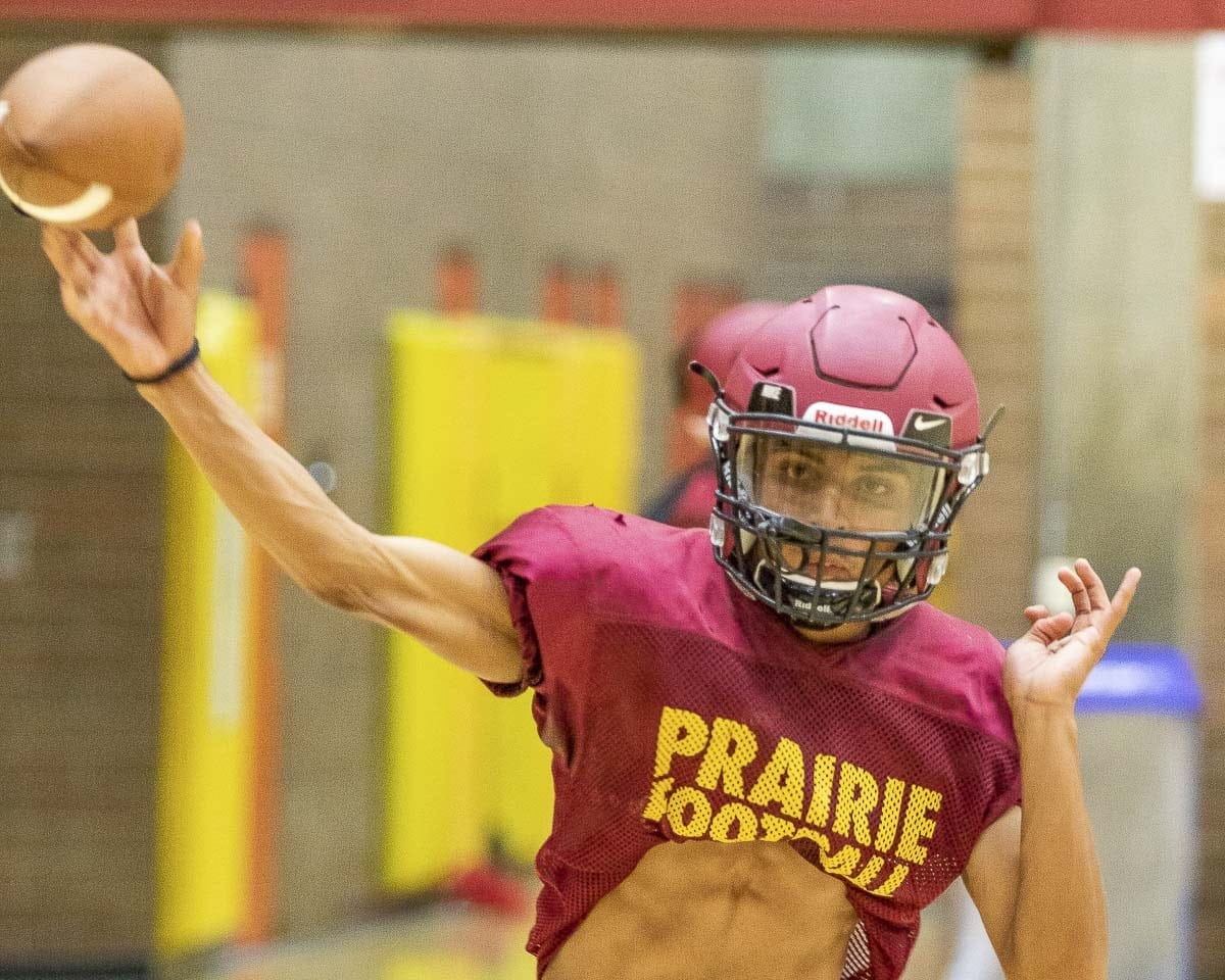 Junior A.J. Dixson will attempt to help the Prairie Falcons improve on last season's 3-6 record. Photo by Mike Schultz