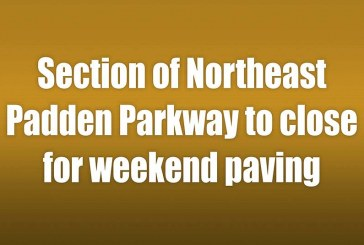Section of Northeast Padden Parkway to close for weekend paving