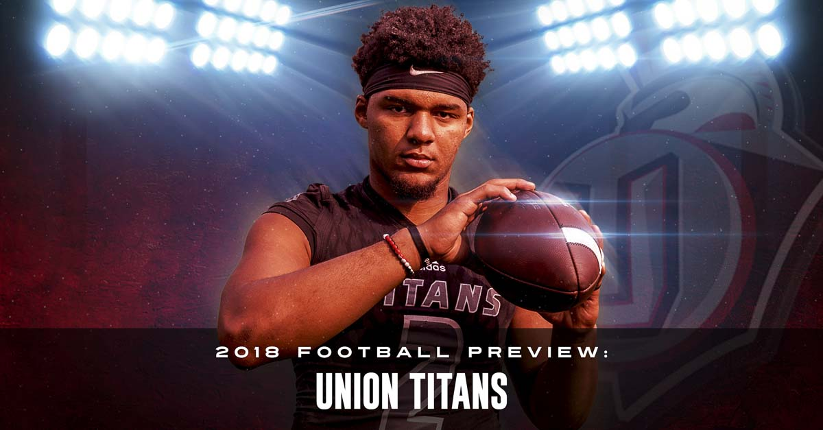 They call him The Dream. Alishawuan Taylor can be a nightmare to opponents, though. A 6-4, 245-pound senior, he is a wide receiver and a dominating linebacker for the Union Titans. Photo by Mike Schultz. Edited by Andi Schwartz