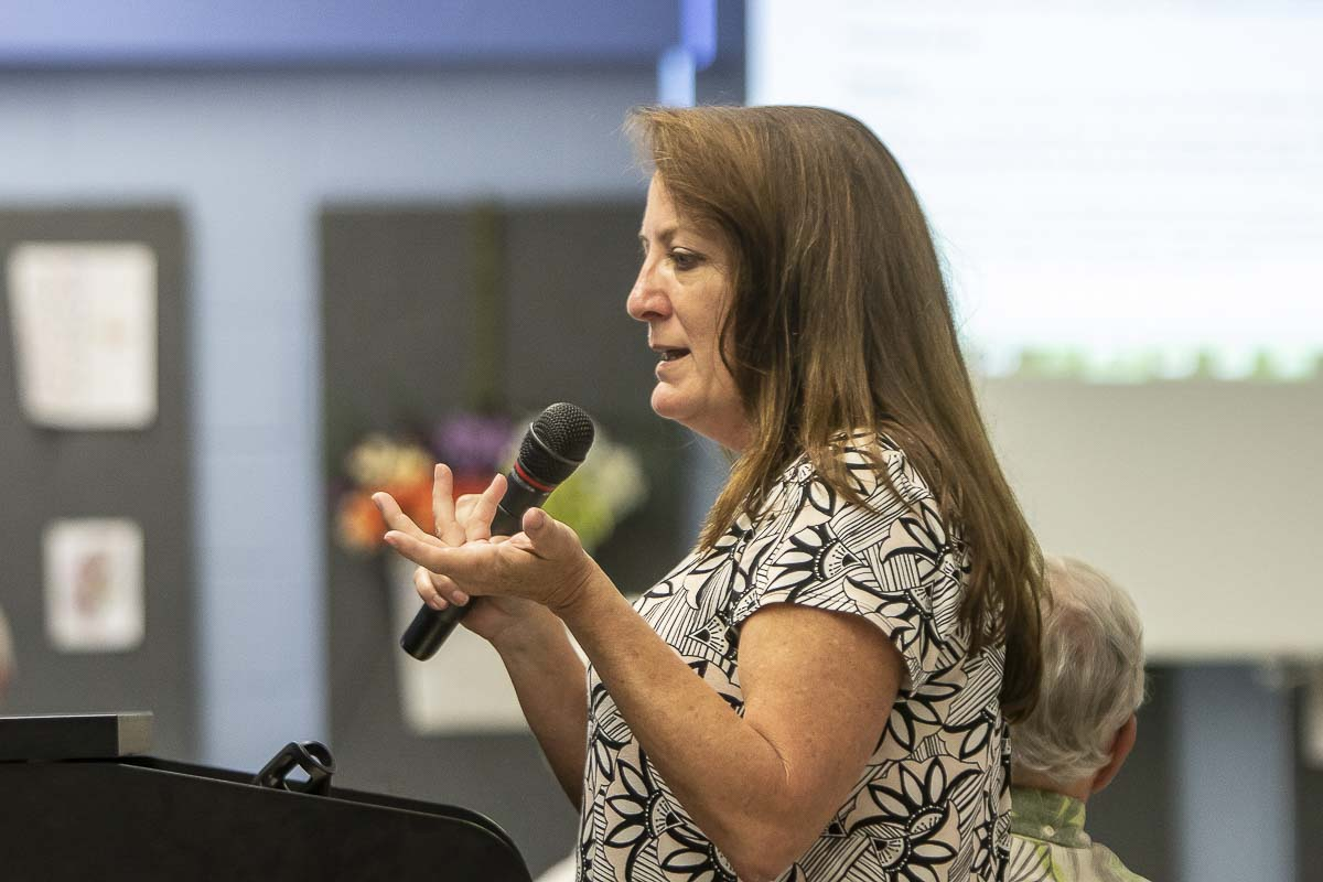 Suzanne Levis, shown here in this file photo, resigned her position as Finance Director for the city of La Center on May 15 after reaching a separation agreement with the city. Photo by Mike Schultz