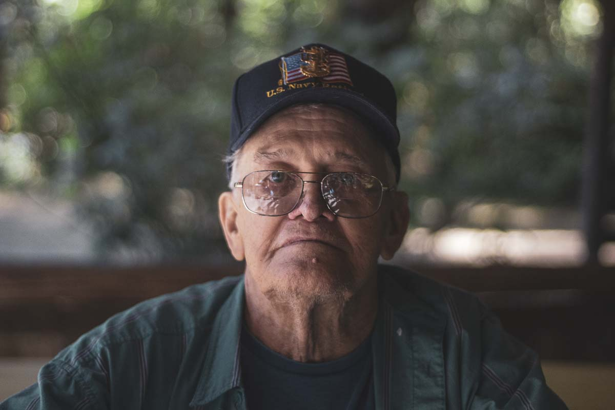 Ron Kangas poses with his US Navy cap at the annual Kangas Family Reunion, on Aug. 18. Ron severed in the navy for 24 years. Photo courtesy of Jacob Granneman