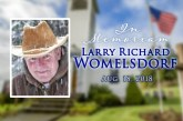 Obituary: Larry Richard Womelsdorf