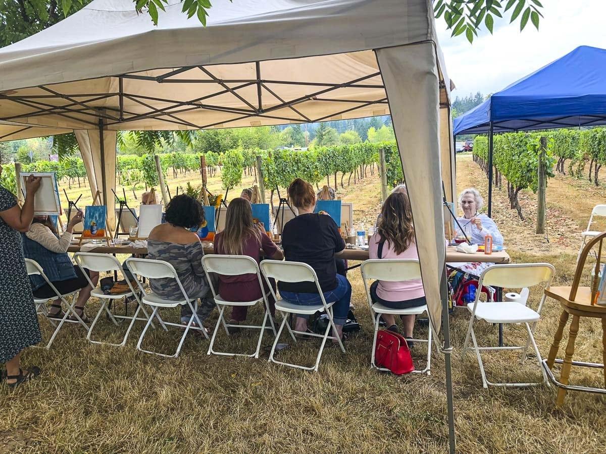 Heisen House Vineyards Sunflower Festival. Photo by Andi Schwartz