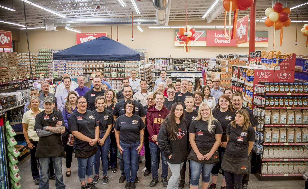 "Grocery Outlet Bargain Market, which company officials describe as ""the nation's fastest-growing, extreme-value grocery retailer,'' opened its newest location Thursday at 1325 Lewis River Road in Woodland. Photo courtesy of Woodland Grocery Outlet"