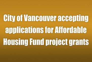 City of Vancouver accepting applications for Affordable Housing Fund project grants