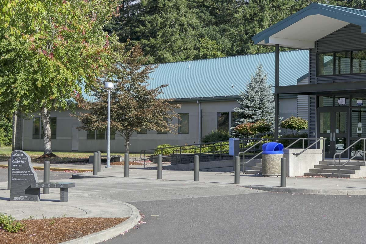 La Center High School is also home to a portable containing the district's administrative offices. Photo by Chris Brown