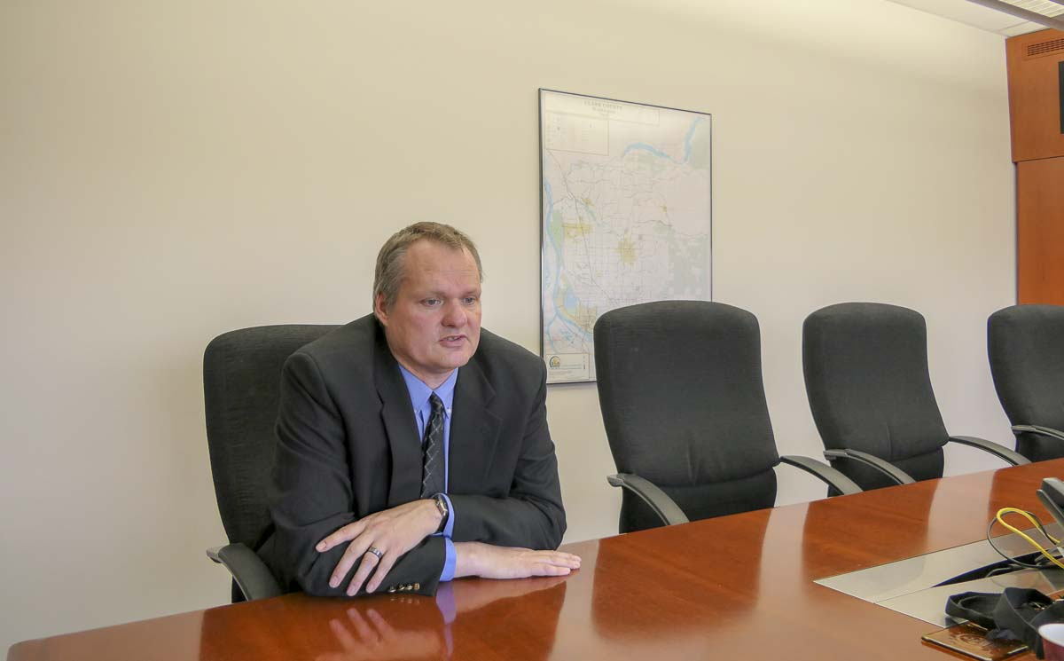 New Clark County Manager sits down for an interview with ClarkCountyToday.com. Photo by Chris Brown
