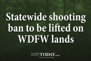 Statewide shooting ban to be lifted on WDFW lands