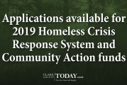 Applications available for 2019 Homeless Crisis Response System and Community Action funds