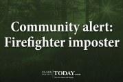 Community alert: Firefighter imposter