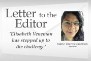 Letter:'Elisabeth Veneman has stepped up to the challenge'