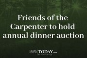 Friends of the Carpenter to hold annual dinner auction