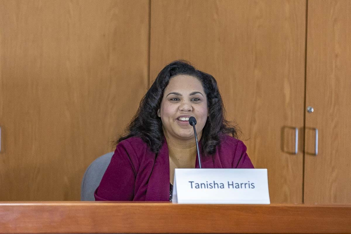 Political newcomer Tanisha Harris is looking to unseat incumbent Vicki Kraft in November. Photo by Mike Schultz