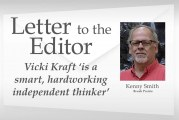 Letter: Vicki Kraft 'is a smart, hardworking independent thinker'